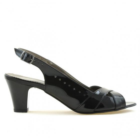 Women sandals 1204 patent black
