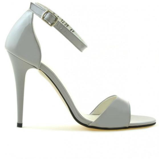 Women sandals 1238 patent gray deschis