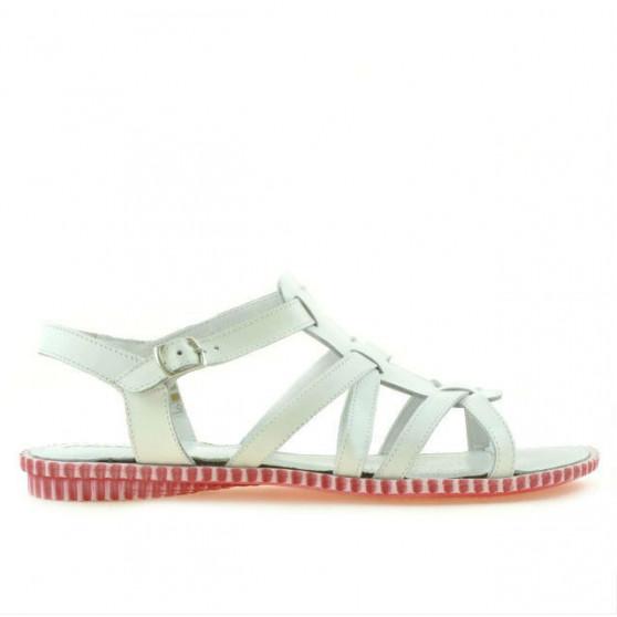 Sandale dama 595 alb