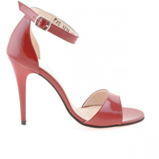 Women sandals 1238 patent red