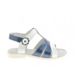 Sandale copii mici 18c lac indigo+alb