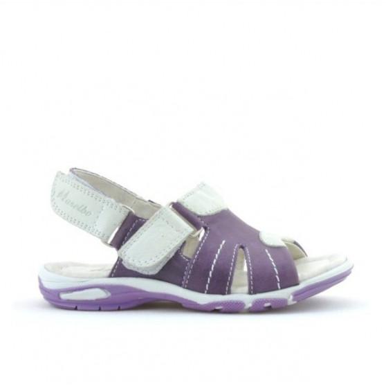 Sandale copii mici 41c mov+alb