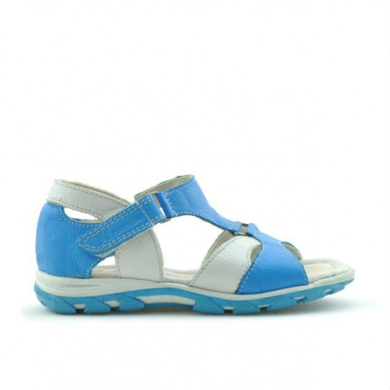 Small children sandals 09c turcoaz+white