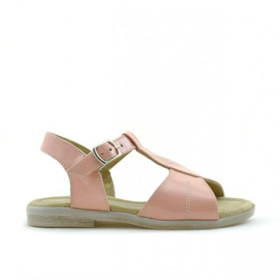 Sandale copii mici 40c lac roz