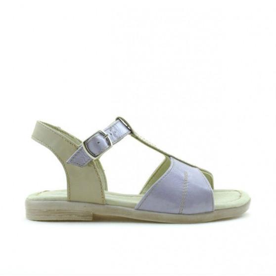 Small children sandals 40c patent purple+beige