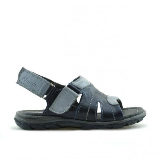 Small children sandals 41c indigo+gray