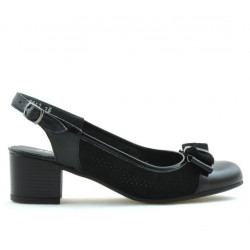 Women sandals 5013 patent black combined