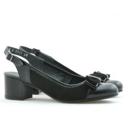 Women sandals 5013 patent black combined