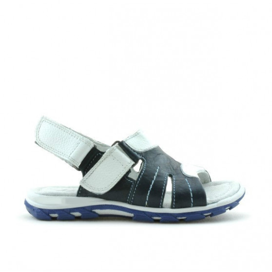 Small children sandals 41c indigo+white