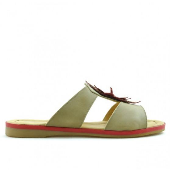 Women sandals 5008 brown+red