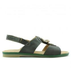 Sandale dama 5009 verde sidef