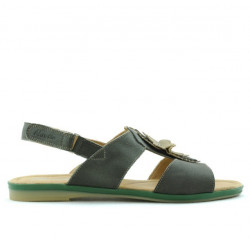 Women sandals 5009 green pearl