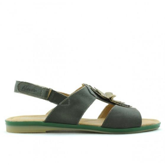 Women sandals 5009 green pearl