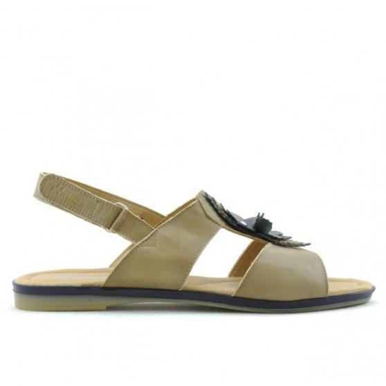 Women sandals 5009 brown+indigo