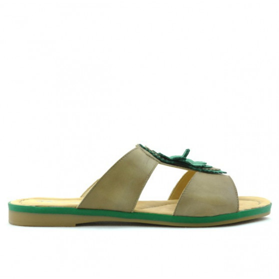 Women sandals 5008 brown+green