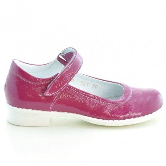 Children shoes 121 patent pink