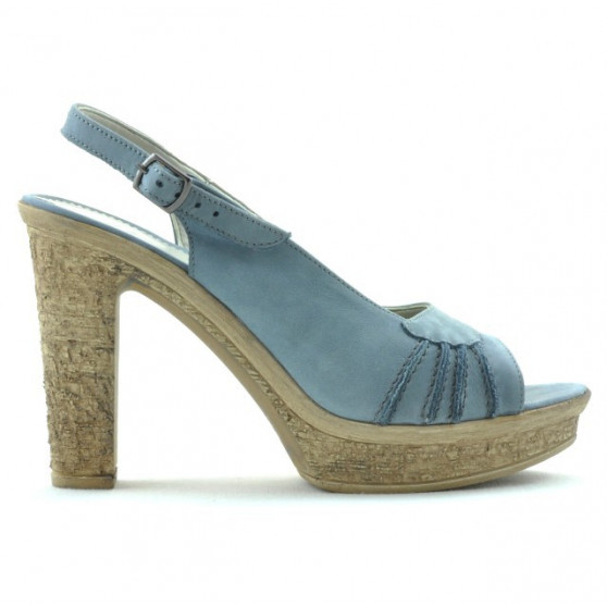 Women sandals 597 bleu velour