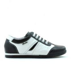 Children shoes 136 black+white