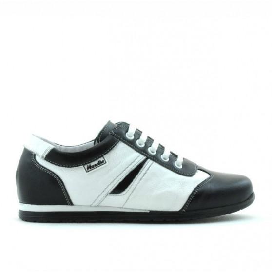 Pantofi copii 136 negru+alb