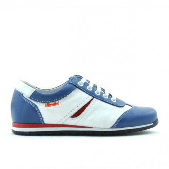Children shoes 136 blue+white