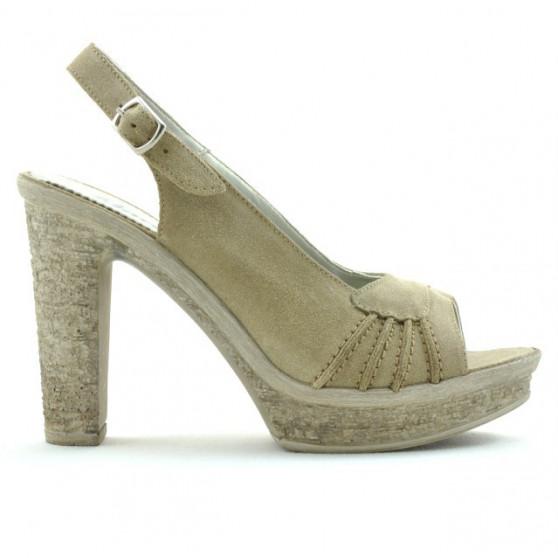 Women sandals 597 sand velour