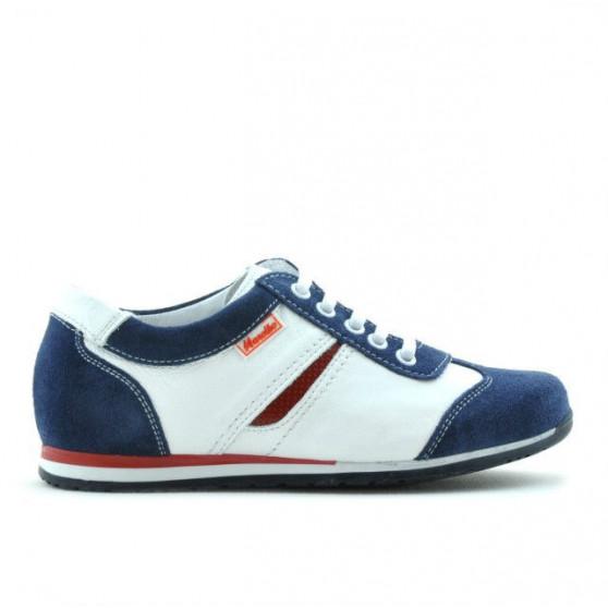 Children shoes 136 indigo velour+white
