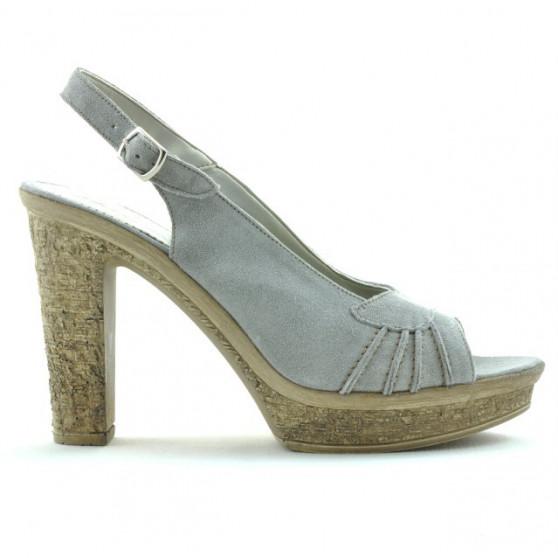 Women sandals 597 gray deschis velour