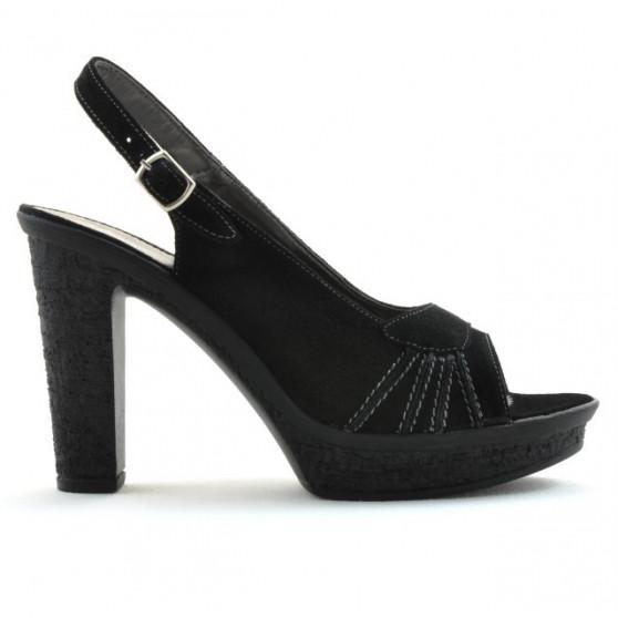 Women sandals 597 black velour