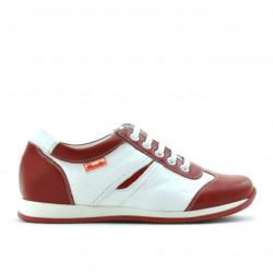 Pantofi copii 136 rosu+alb