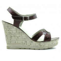 Sandale dama 5021 lac bordo