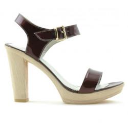 Women sandals 5022 patent bordo