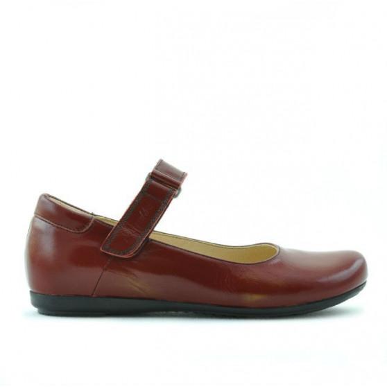 Pantofi copii 125 lac visiniu