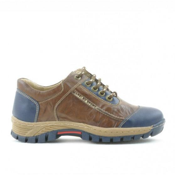 Pantofi copii 137 indigo+maro