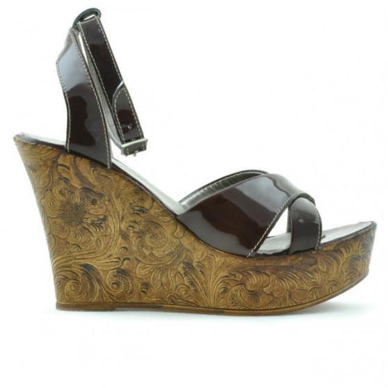 Women sandals 5017 patent burgundy