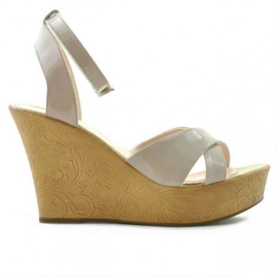 Women sandals 5017 patent nude