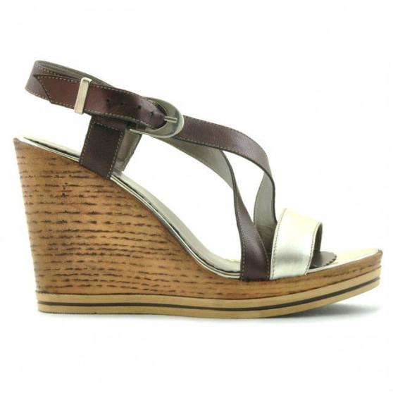 Sandale dama 5016 auriu combinat