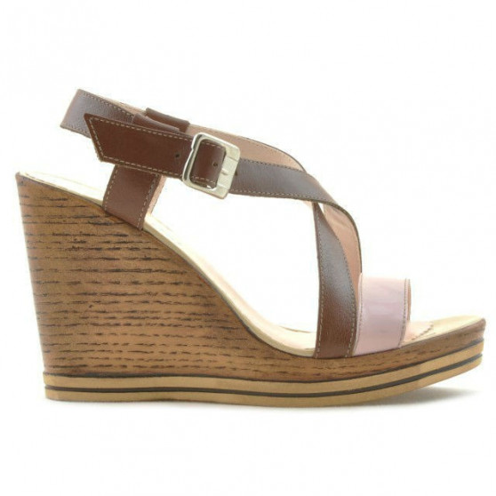 Women sandals 5016 patent pink combined