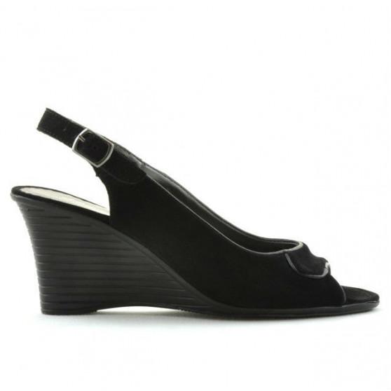 Women sandals 596 black velour