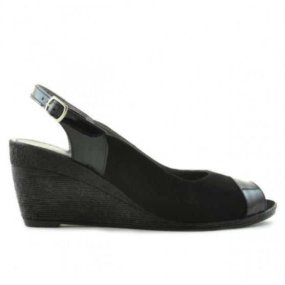 Women sandals 5019 patent black combined