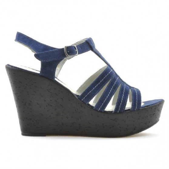 Women sandals 598 indigo velour