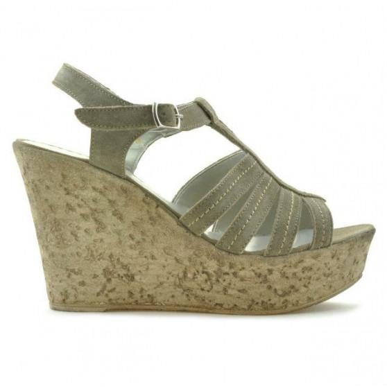 Women sandals 598 sand velour