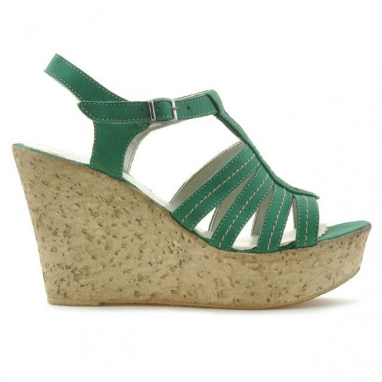 Women sandals 598 bufo green