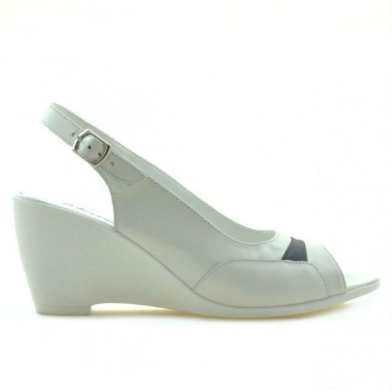 Women sandals 599 white+indigo
