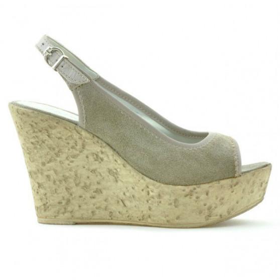 Sandale dama 5001 nisip velur