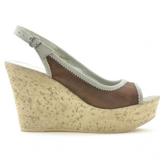 Sandale dama 5001p ciocolata perforat