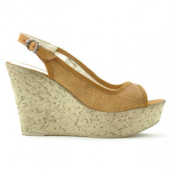 Sandale dama 5001p maro perforat