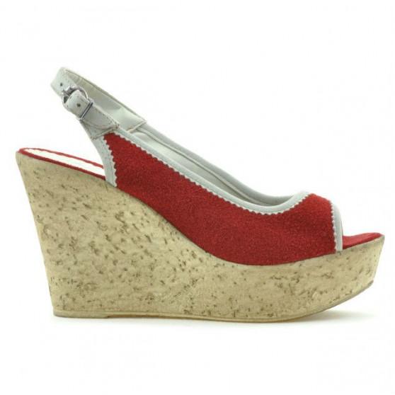 Sandale dama 5001 rosu velur