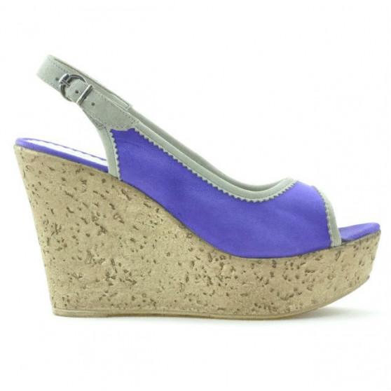 Women sandals 5001 purple velour