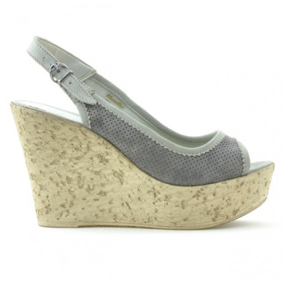 Sandale dama 5001p gri perforat