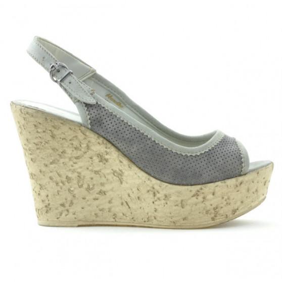 Women sandals 5001p gray perforat